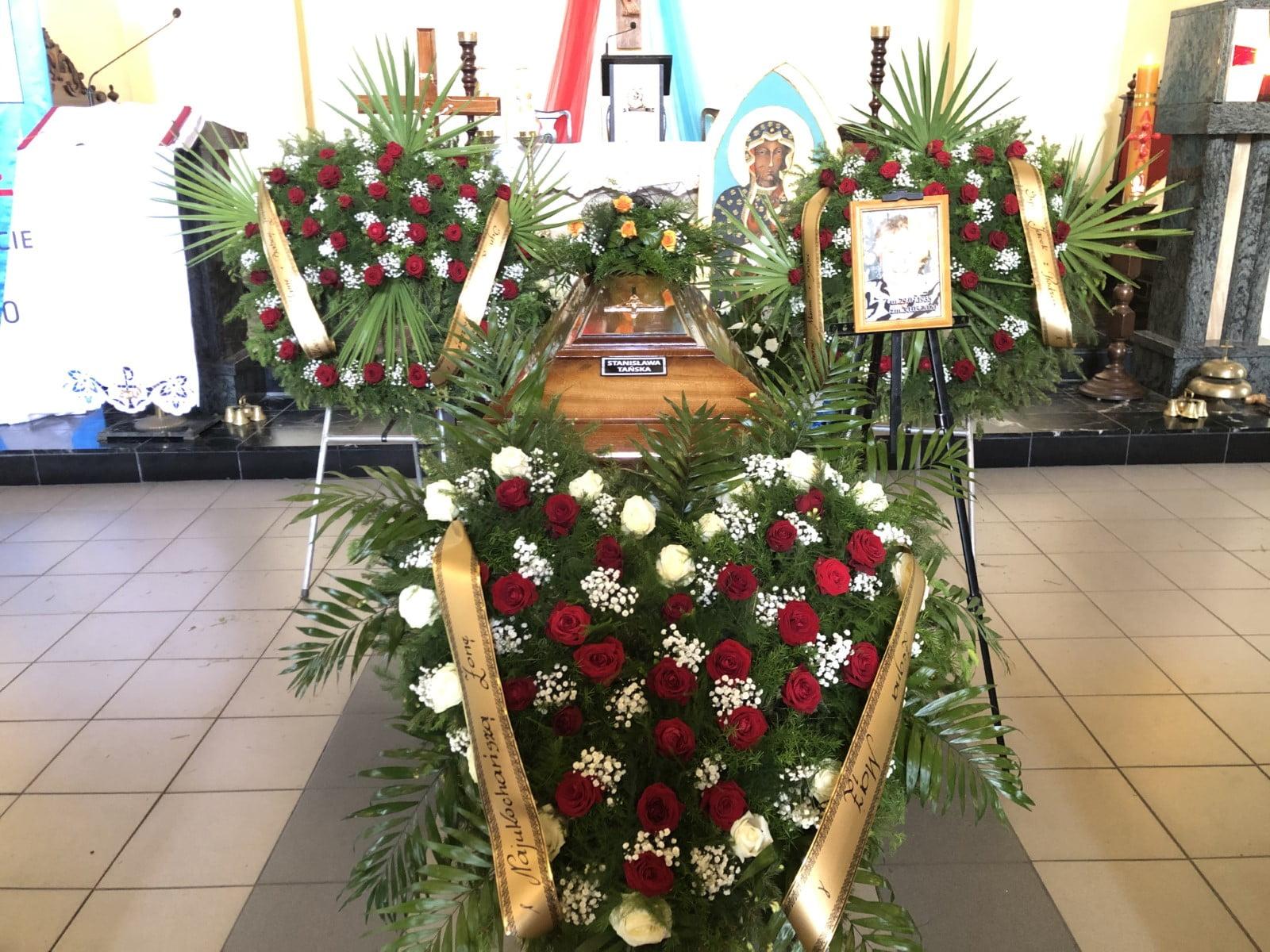 wieniec-serce na pogrzeb